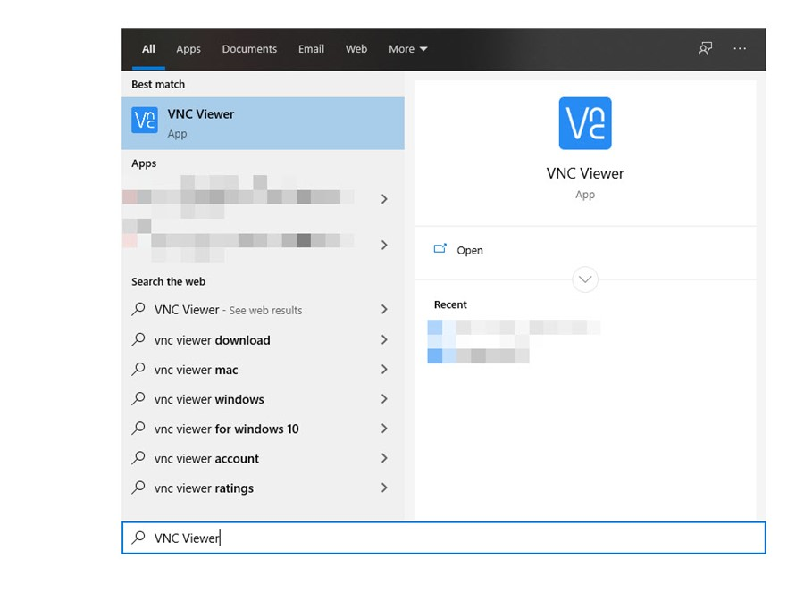 Image of Windows Start Menu search.