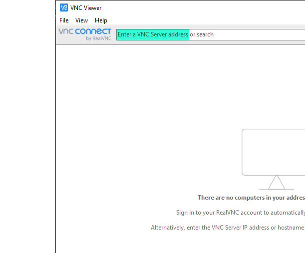 Image of VNC Viewer application.