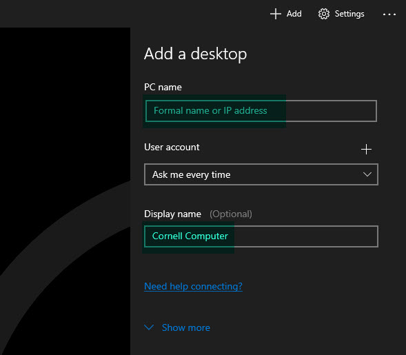 Image of Microsoft Remote Desktop app.